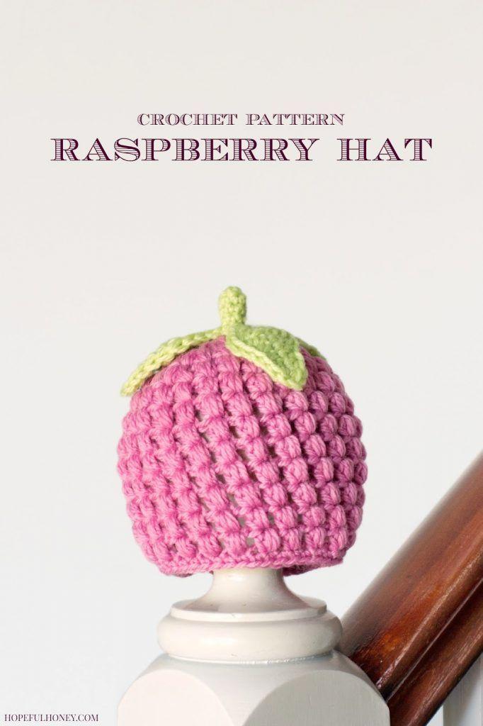 Newborn Raspberry Hat Crochet Pattern   Hat crochet, Raspberry and ...