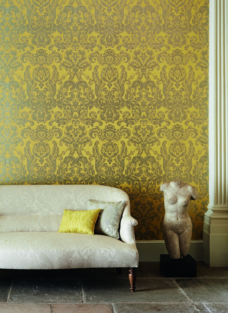 Brocatello wallpaper by @ZoffanyFW available from Rodgers of York #wallpaper #interiors