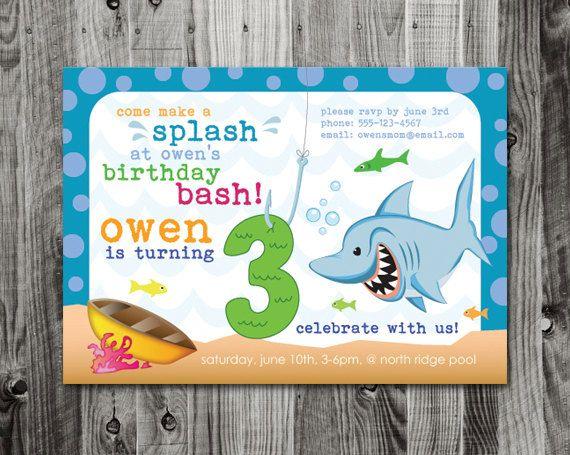 62 best fishy aquarium birthday party inspiration images on - fresh birthday party invitation ideas wording