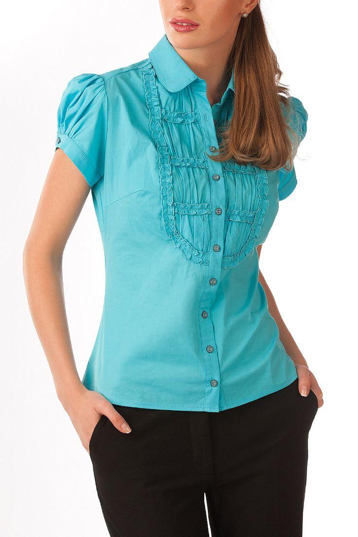 Летняя бирюзовая блузка