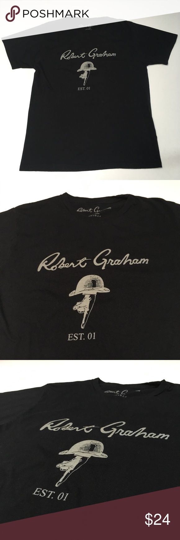 Robert Graham Designer Logo Shirt Tailor Fir Awesome Tee Excellent condition Trusted quality and comfort   Please check measurements in pics for fit reference.     Smoke and pet free storage  Happy to answer any questions    Thanks for looking Robert Graham Shirts Tees - Short Sleeve