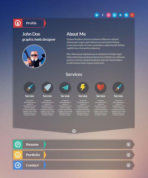 resume templates html resume cv cover letter resume html template