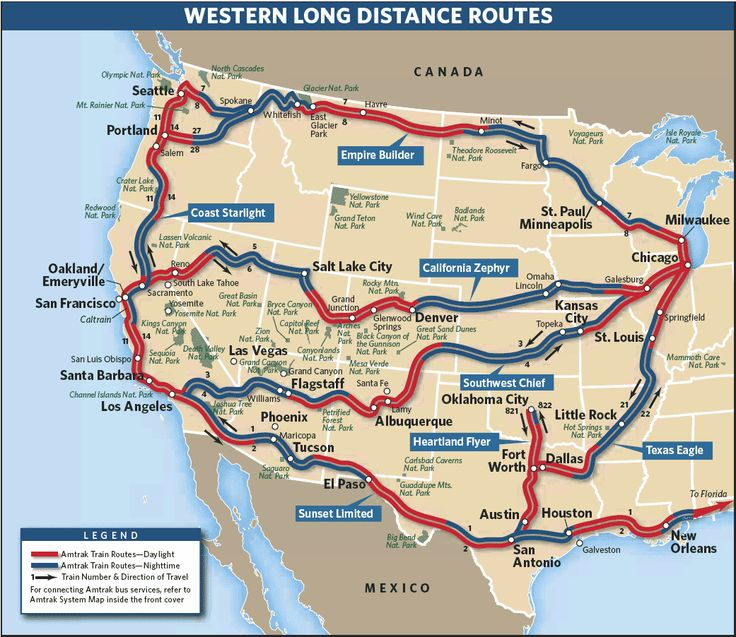 amtrak route map - Google Search