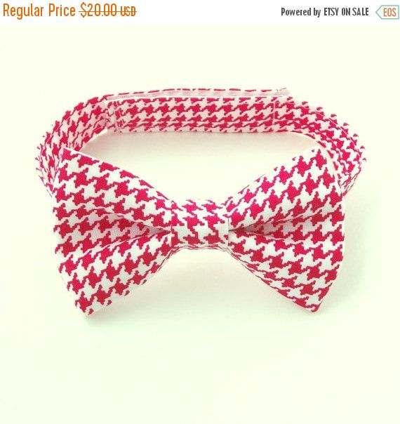 Christmas Bow Tie, Red Houndstooth, Toddler Bow Tie, Red Baby Bow Tie, Ring Bearer, Bright Red, Pattern, Print, page Boy