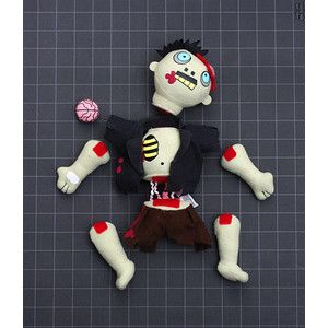 The Dismember-Me Plush Zombie begs to be torn limb from limb. After all he is a decaying re-animated corpse turned into irresistible cuddly plush. Rip off an arm, he doesn't mind. Tear him in half, he'll barely notice. Pull off his legs...ok now he's getting a bit annoyed. Steal his brain, now you've really done it.: Zombies Toys, Zombies Plush, Zombies Fun, Plush Zombies, Dismemberm Plush, Zombie Dolls, Dismemb M Plush, Dismember M Plush, Zombies Dolls