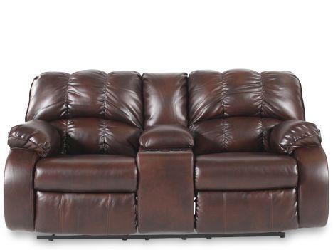 ashley millenium knockout redwood reclining loveseat w