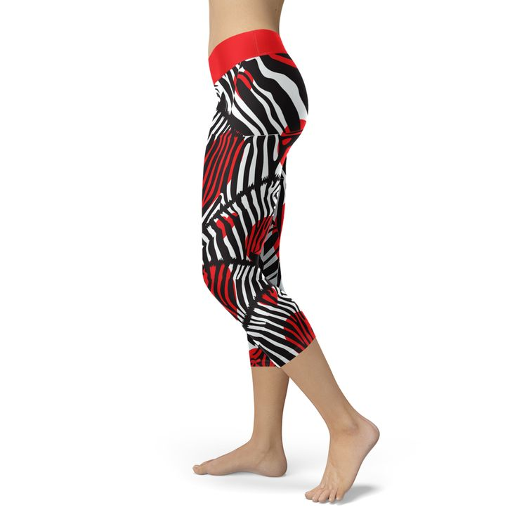 Zebra Love Capris - Animal Welfare Awareness- EXCLUSIVE OF CHAKRAS LEGGINGS