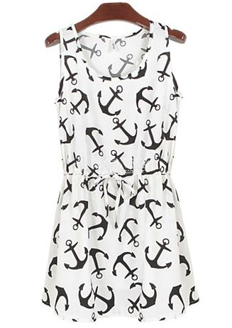 Shop White Sleeveless Anchors Print Pleated Dress online. SheIn offers White Sleeveless Anchors Print Pleated Dress & more to fit your fashionable needs.