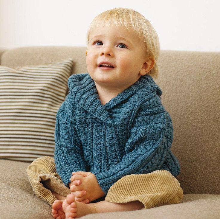 Нарядный пуловер с косами для мальчика (Вязание спицами) | Журнал Вдохновение Рукодельницы