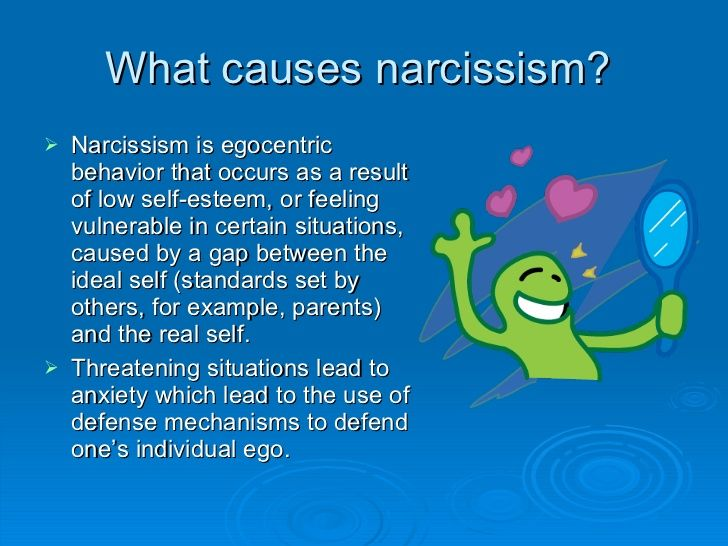 psychology case study narcissistic personality disorder According to kohut's self psychology model, narcissistic psychopathology is a result of parental lack of empathy during development consequently, the individual does not develop full capacity to regulate self esteem.