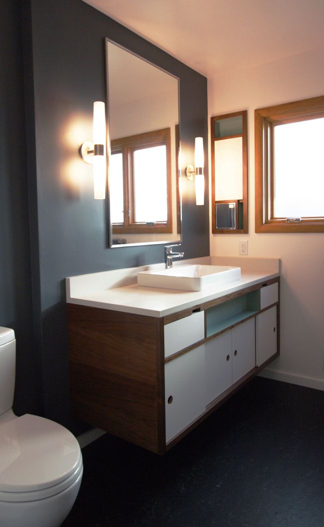 30 Beautiful Midcentury Bathroom Design Ideas. Floating Bathroom  VanitiesFloating VanityModern BathroomsModern Bathroom Light FixturesModern  ... Gallery