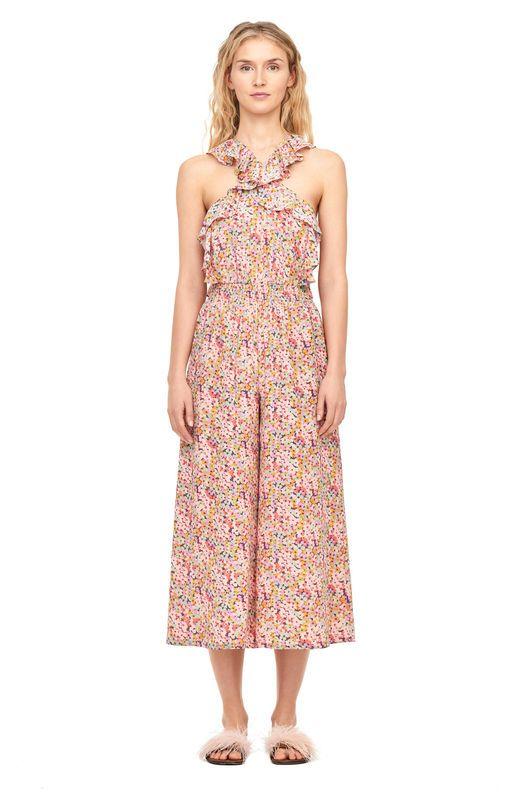 869b3d7d2284 Margo Floral Silk Jumpsuit - Multi Combo