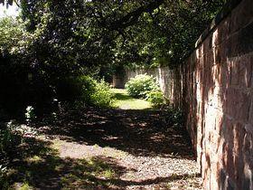Great Barrow - Path to the church. © John. Hallam