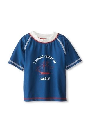 48% OFF Wippette Kid's Rather Sail Rash Guard (Navy)