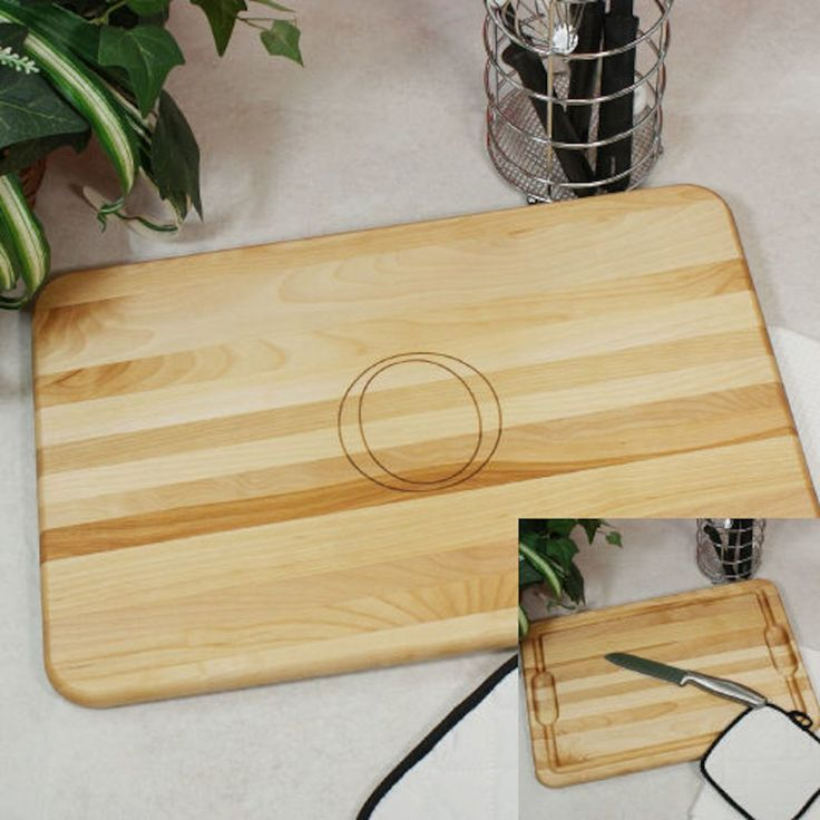 Personalized Engraved Monogram Bamboo Carving Board with Juice Well - Gifts Happen Here