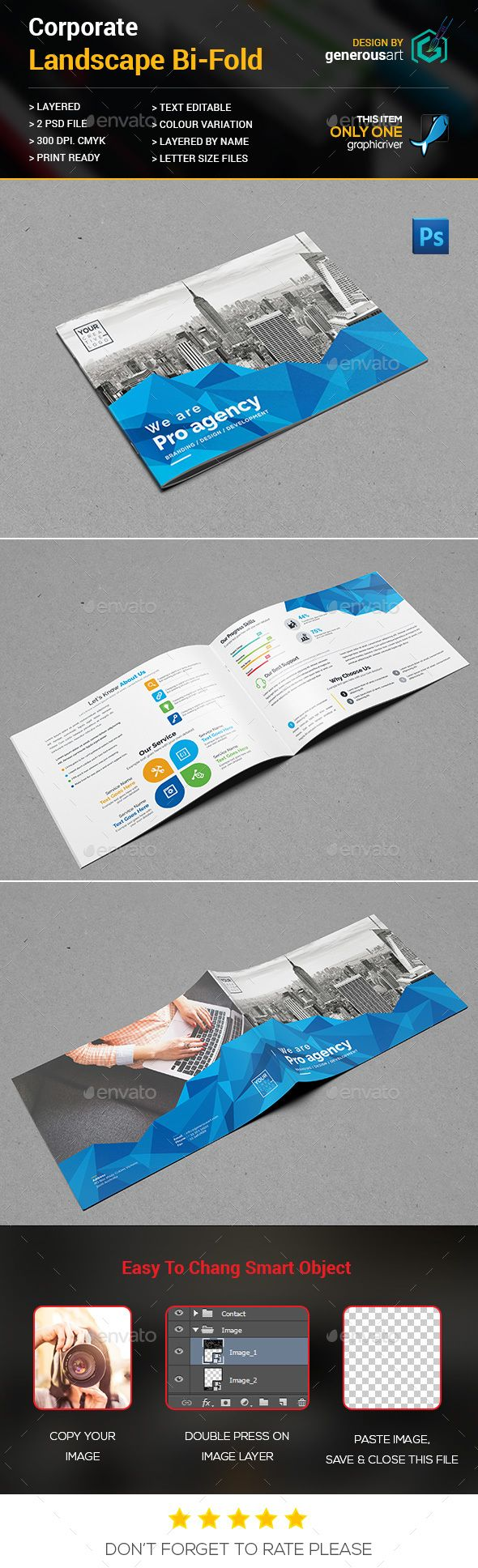 450 best bi fold brochure designs images on pinterest brochures landscape bi fold brochure psd template business card designer download wajeb