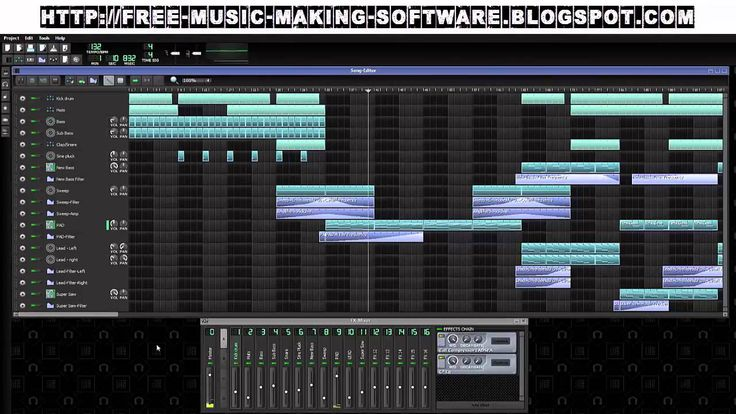 Awesome music production song composing software