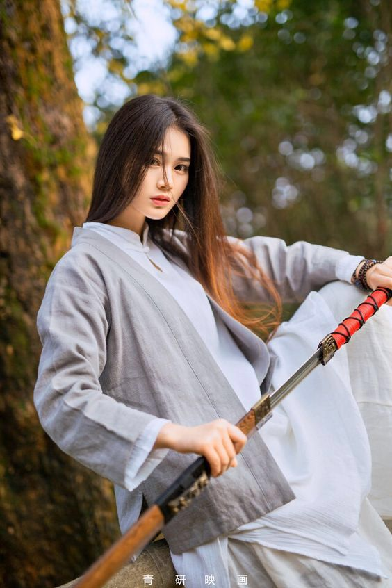 Asian girl with sword #5