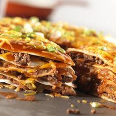 Cheesy Enchilada Stack