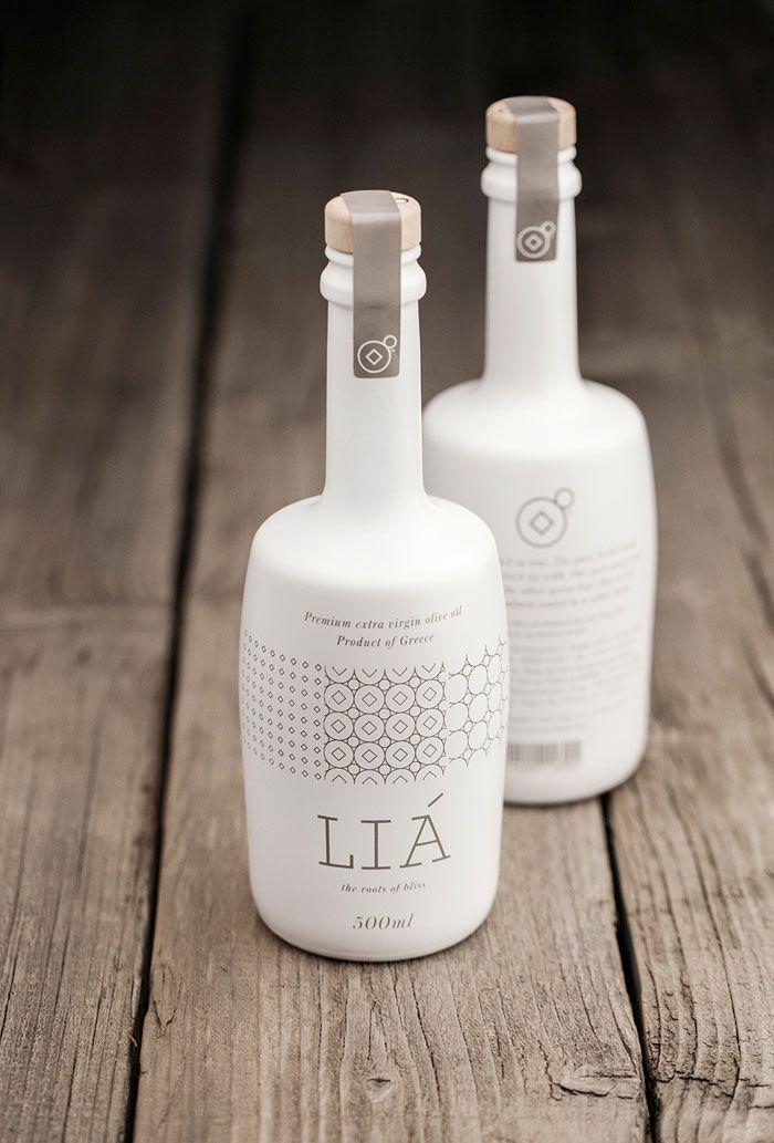 LIA olive oil packaging designed by Bob Studio