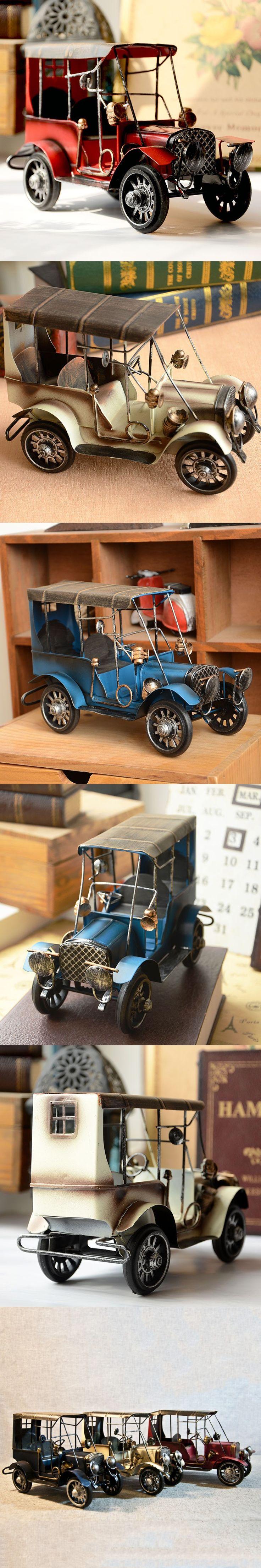Zakka vintage car do old ford restor car tin toys gran torino nostalgic ornament handmade creative gifts crafts