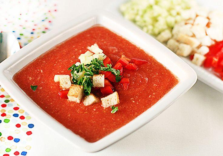 Рецепт супа Гаспачо - вкусный рецептик.