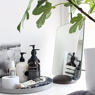 Bathroom vanity beauty products