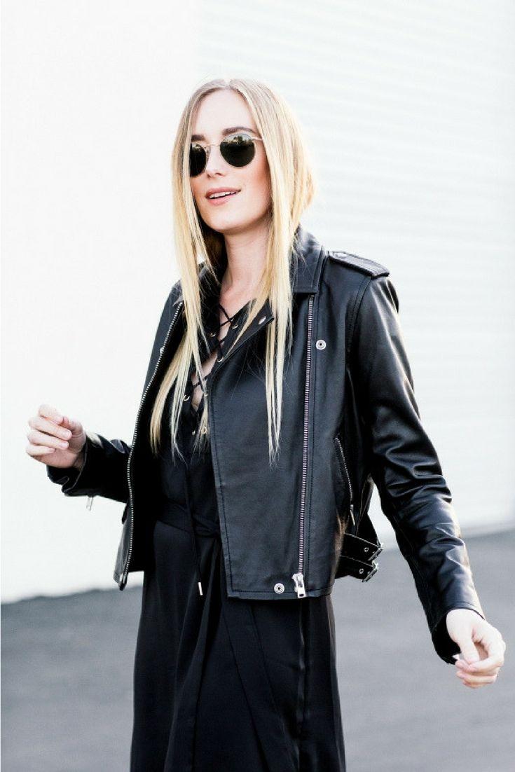 Biker Jacket | Eat Sleep Wear | biker jacket, bike babe, biker look, leather jacket, sunnies, spring fashion, woman's fashion,