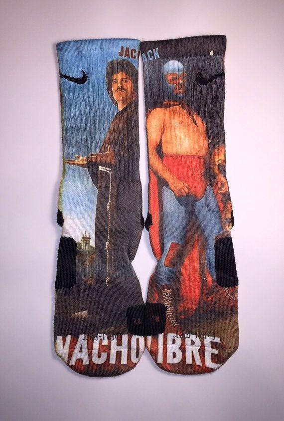 Nike Elite Nacho Libre socks by Instasocks on Etsy