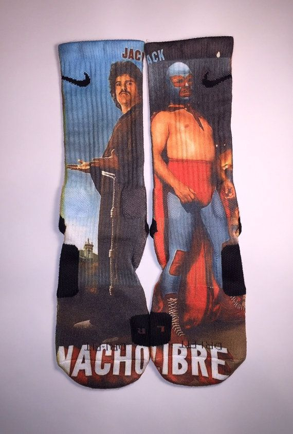 Nike Elite Nacho Libre socks by Instasocks on Etsy