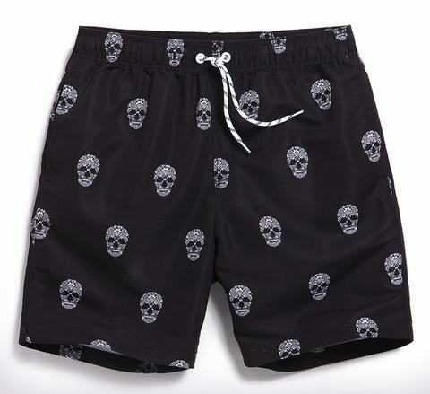 Board shorts men swimwear beach skull
