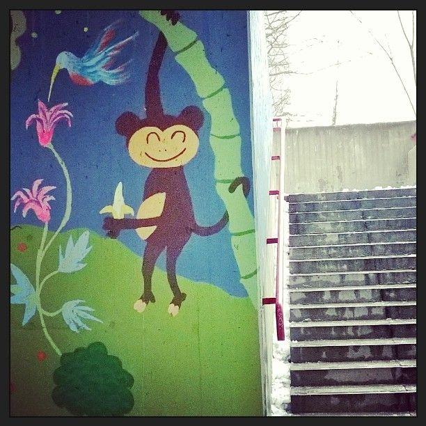#katutaidetta #Pasilassa #streetart #Helsinki #ape #apina  #bansku