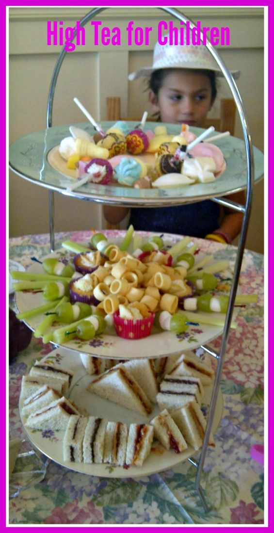 At Dickens Tea Room, Debbie usually adapts the High Tea menu for the younger crowd.  Go by there and get some ideas for your tea party.