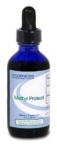 Biogenesis Methyl Protect 2 oz by BioGenesis. $13.55. Methyl Protect 2 oz  Dietary Supplement   Supplement Facts  Serving Size: 1 ml (one full squeeze of dropper)  Servings per Container: 59  Amount per Serving:  Vitamin B6 (pyridoxal-5-phosphate) 2 mg  Folate (folic acid) 800 mcg Vitamin B12 (methylcobalamin) 500 mcg   Other Ingredients: Water, Glycerin, Xylitol, Mixed Berry Powder (for color), Natural Flavors, Citric Acid, Sodium hexametaphosphate, Potassium Sorbate, and ...