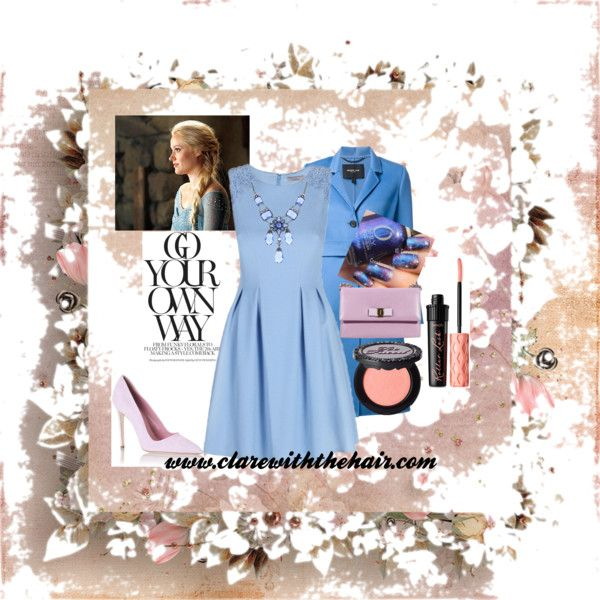 Spring Inspiration by clarewiththehair on Polyvore featuring Derek Lam, Dee Keller, Salvatore Ferragamo, 1928, Too Faced Cosmetics and Once Upon a Time