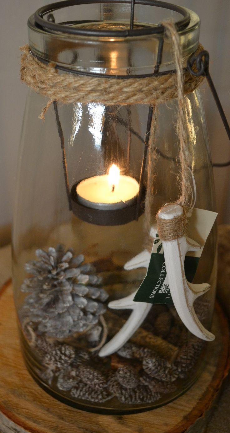 Waxinelicht met decoratie