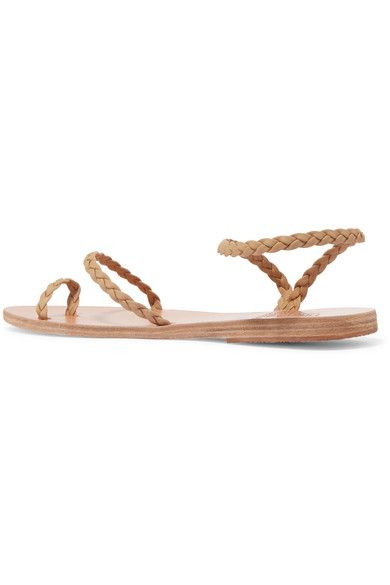 Ancient Greek Sandals - Eleftheria Braided Leather Sandals - Neutral - IT38