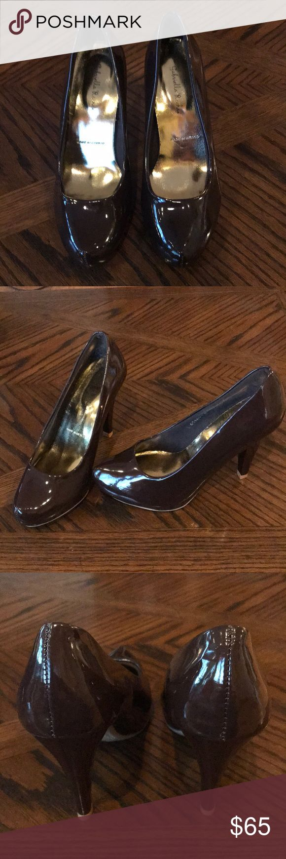 "Chocolate Brown Patent Leather Almond Toe Pumps Gabriella Rocha brand new 4"" heels with 1/2"" Hidden platform. Really pretty. Classic design. Gabriella Rocha Shoes Heels"