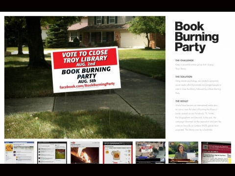 BOOK BURNING PARTY | Promo & Activation Lions BRONZE | Winners & Shortlists | Cannes Lions International Festival of Creativity