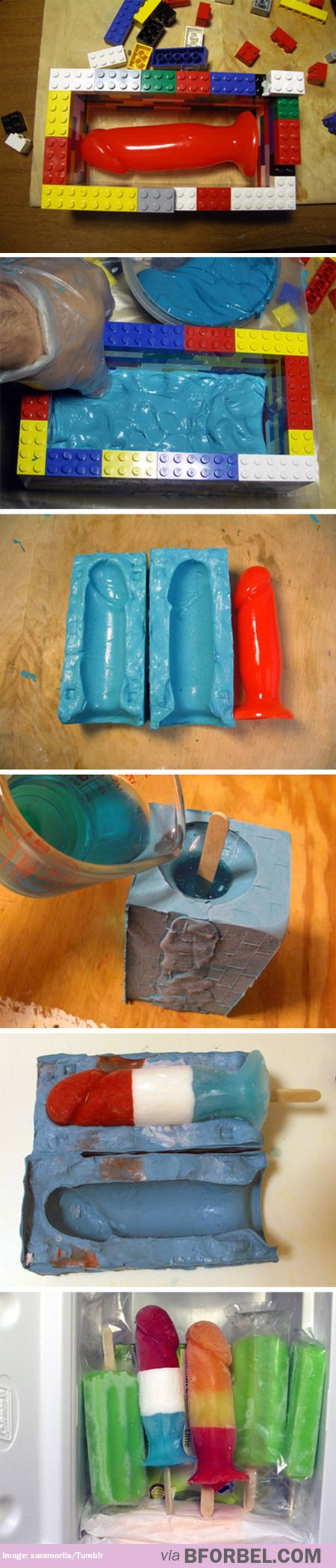 There's actually a tutorial on how to make dildo popsicles omg I can't even