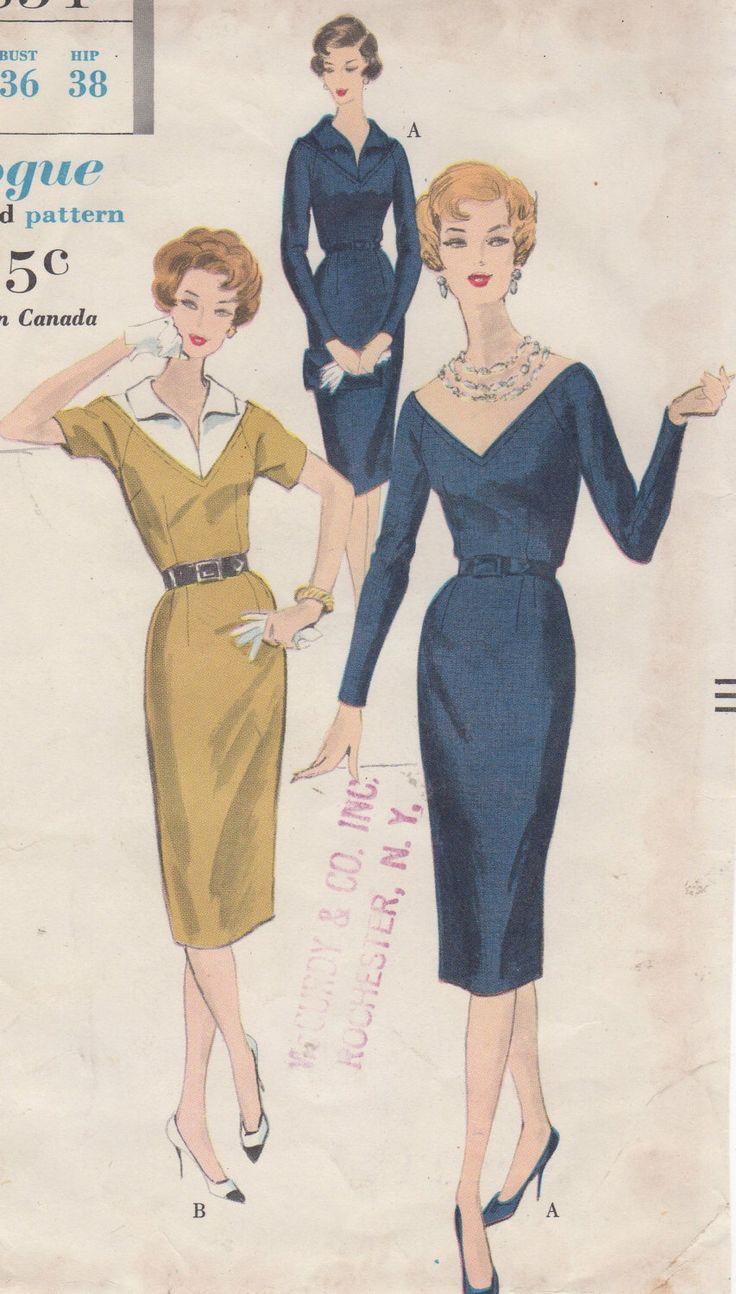 Abito di fabbrica piegato 1960 il mancati di riscontri con Vogue 9854 del giogo staccabile taglia 16 anca Busto 36 38 di HelaQ su Etsy https://www.etsy.com/it/listing/218265399/abito-di-fabbrica-piegato-1960-il