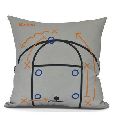 "Zoomie Kids Bauer Motion! Geometric Throw Pillow Size: 16"" H x 16"" W, Color: Gray"