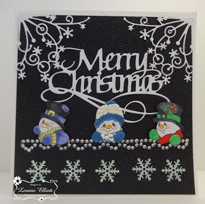 "ONECRAZYSTAMPER.COM: Merry Christmas by Leanne using High Hopes Stamps ""Snowman Mini Set"" (TT006UM)"
