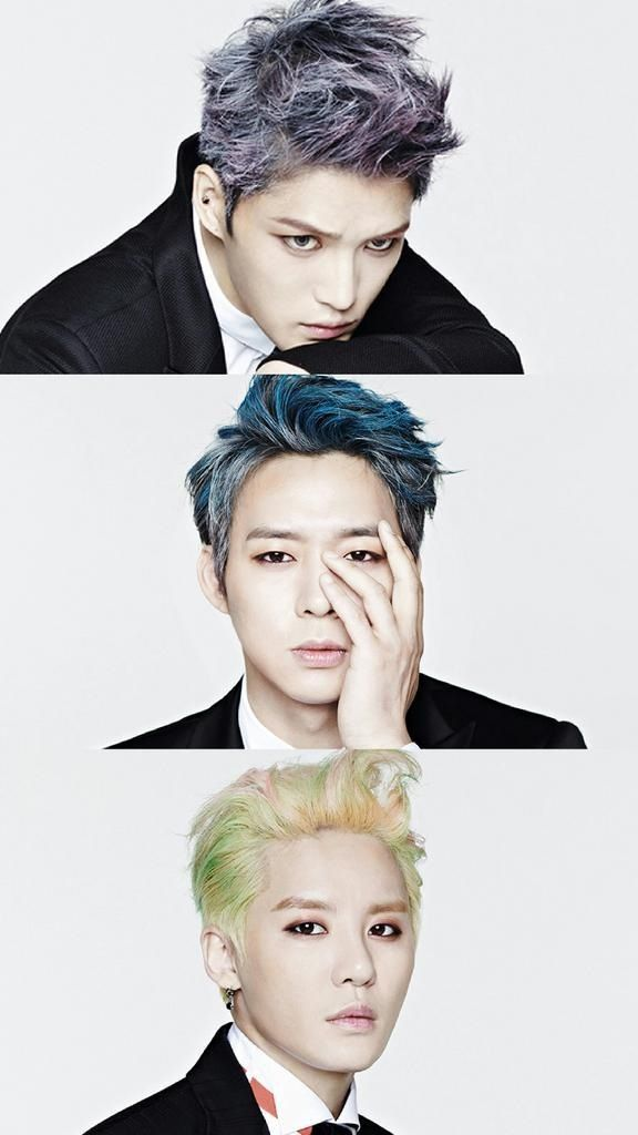 JYJ yes in my face~~~~The hair colours, OMG. Perfection.
