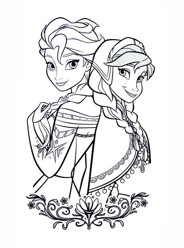 Coloriages La Reine Des Neiges A Imprimer Elsa Coloring Pages