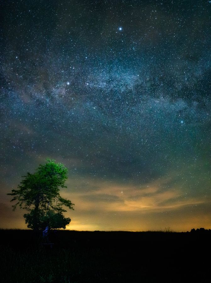 Night sky at the Medves Plateau