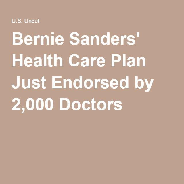 Bernie Sanders' Health Care Plan Just Endorsed by 2,000 Doctors