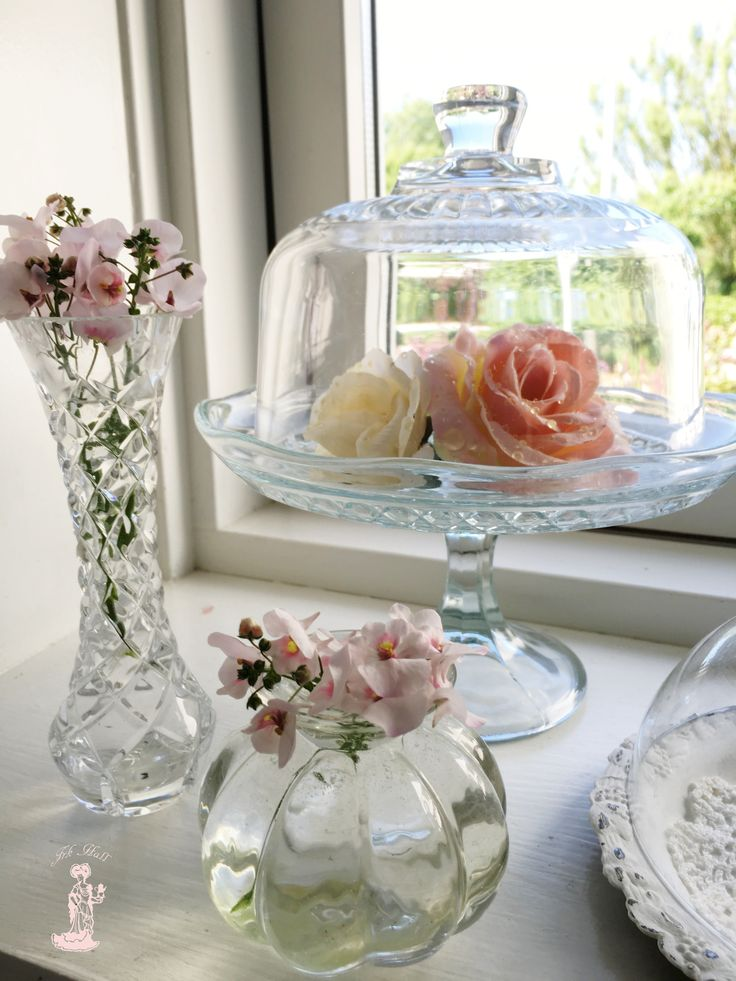very beautiful shabby chic glas in my romantic kitchen window