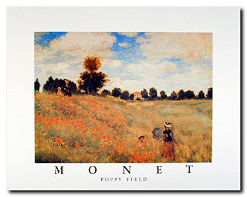 Field of green and red! Liven up any room with this field of poppies by Claude Monet. It will help to add more beautiful color to any room in your sweet home. This poster captures the image of a lady and child walking through a field of poppies. The high quality printing gives this blooming art print poster, vivid and sharp appearance with a high degree of color accuracy creates an elegant look and always stands on test of time.