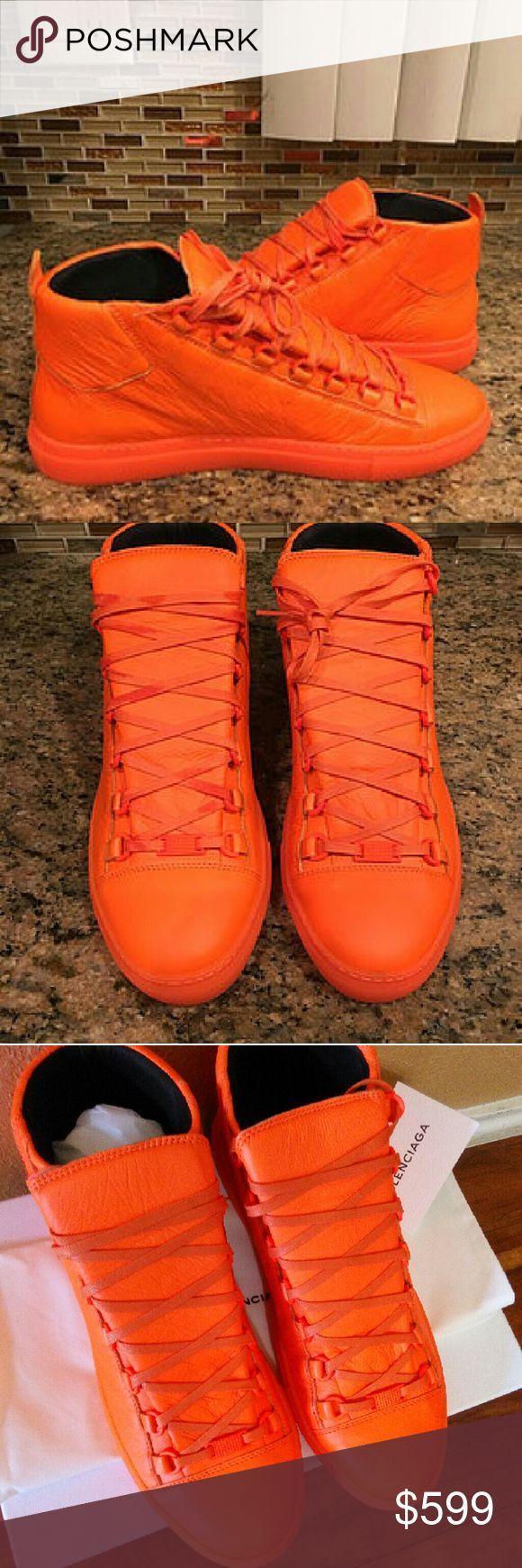 Balenciaga Orange High Top Sneakers 42/44 Men Balenciaga High Top Arena Sneaker  42EU/44EU   100% Authentic Brand New with Dust Bag and Box   #balenciaga #balenciagasneakers #balenciagaracerunner #balenciaganewseason #balenciagaauthentic #balenciagahightop #balenciagamensneakers #balenciagawhitesneakers Balenciaga Shoes Sneakers